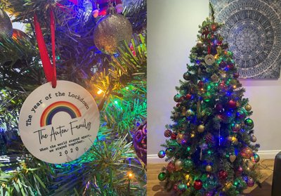 Bauble with a special message
