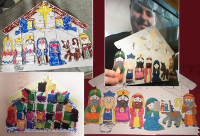 Advent crafts by post