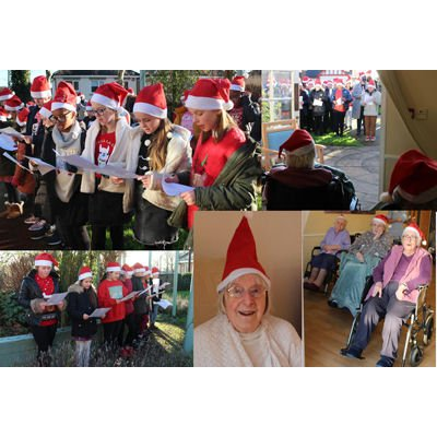 Singing students bring Christmas joy