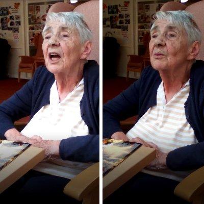 St Catherines nursing home resident singing