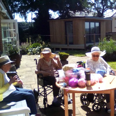 Knit and natter in the sun