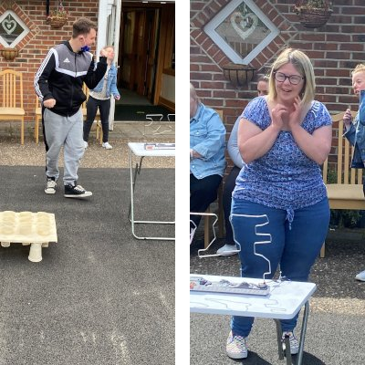 Our guests getting into the competitive spirit