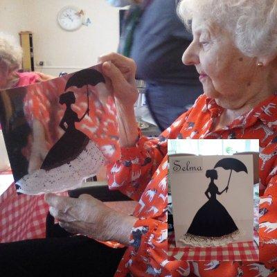 Selma showing off her wonderful work